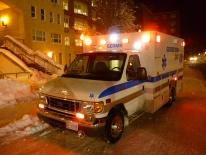 Georgetown University Ambulance on a winter reponse