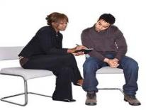 Picture of a counselor and client